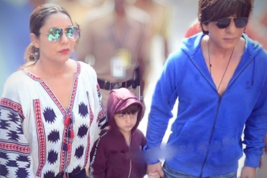 Photo of Abram Khan accompanied Shah Rukh Khan to polling booth for this reason. P.S. We can't stop laughing