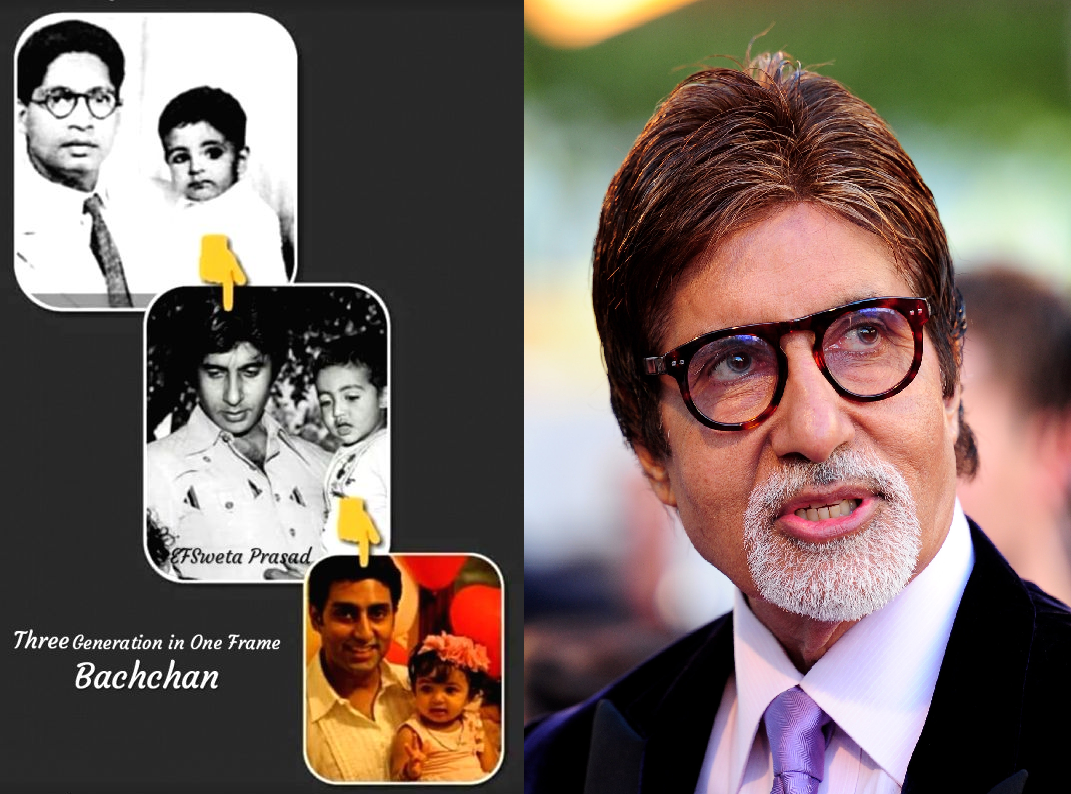 Amitabh Bachchan Shares his three Pictures in one frame