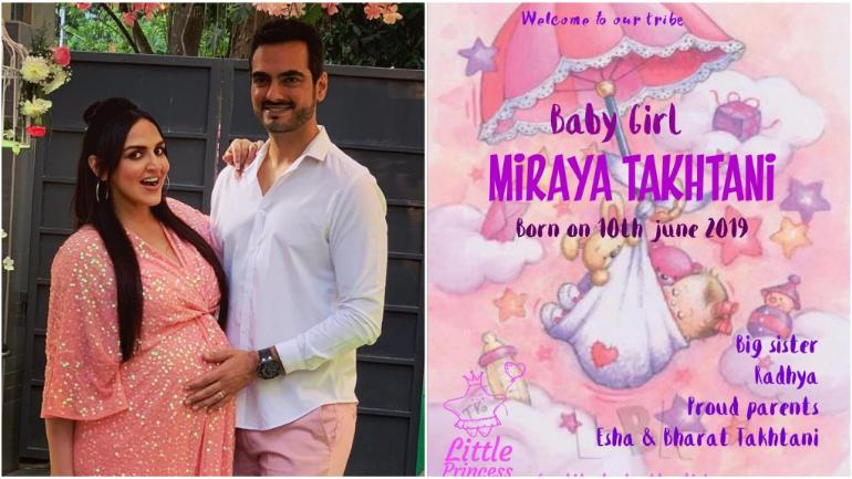 Photo of Esha Deol Gives Birth to a baby girl, Miraya Takhtani