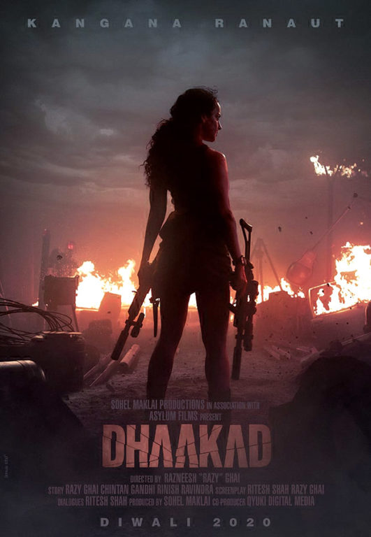 Catch Dhaakad teaser Featuring Kangana Ranaut playing with