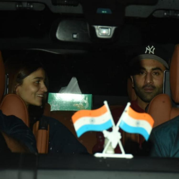 Photo of Is Ranbir Kapoor & Alia Bhatt working together again? Checkout new pics both arriving at Chehre producer Anand Pandit's office