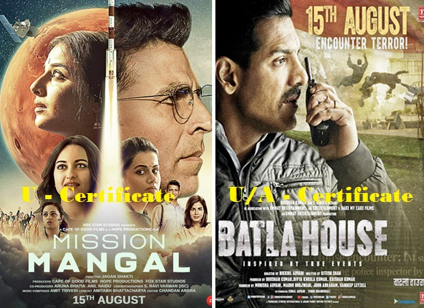 Photo of Censor Board Clears Mission Mangal with U & Batla House gets U/A certification