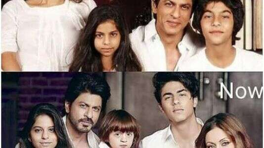 Photo of SRK's Then and Now Family Collage Photos Goes Viral on Social Media