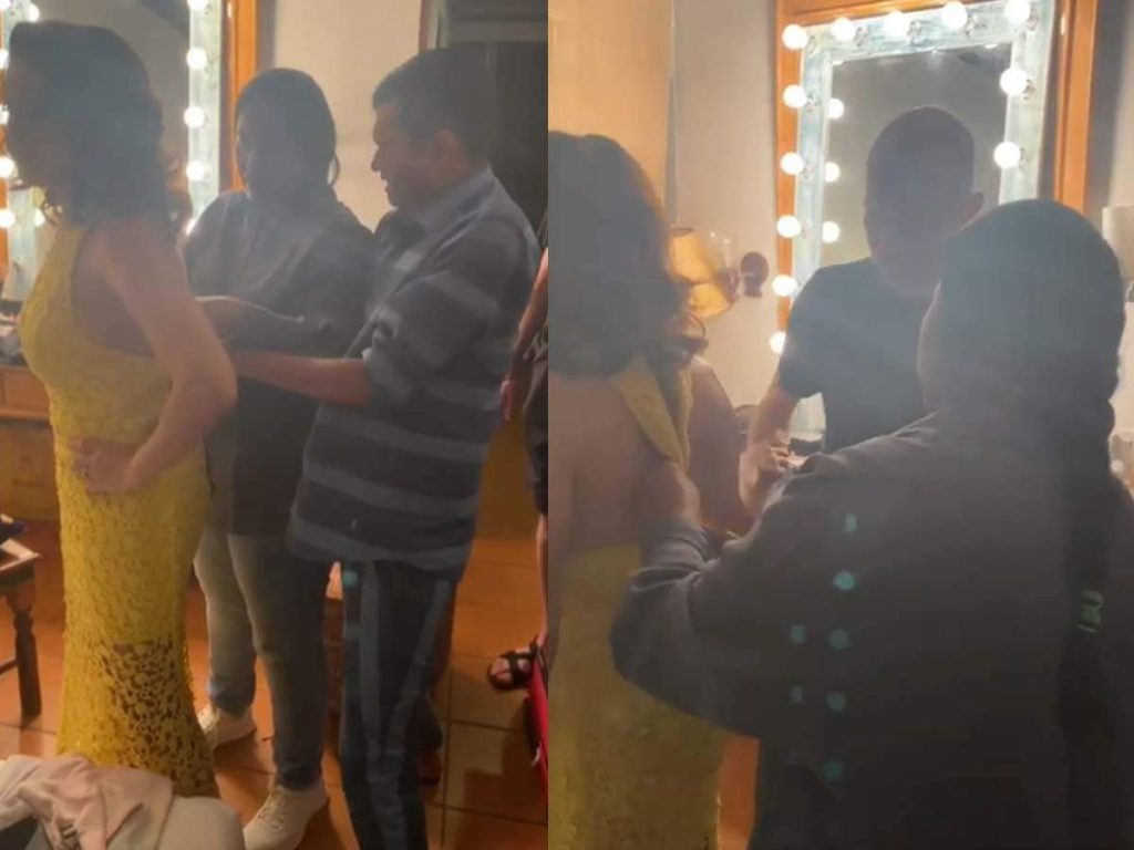Sunny Leone army struggling to zip her dress goes viral