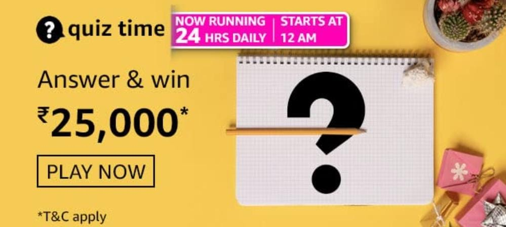 Amazon Daily Quiz Time Answers 18 june