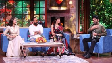 cast of bhoot police on TKSS