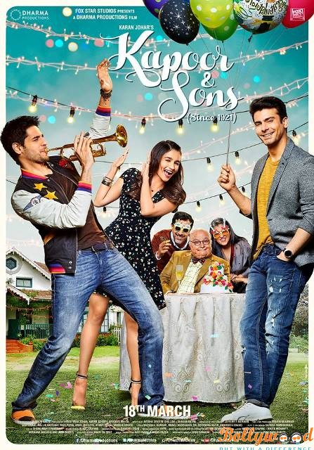 Kapoor & Sons (Since 1921) first look poster