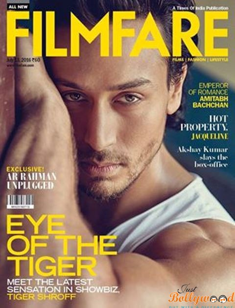 tiger shroff at Filmfare July Cover page