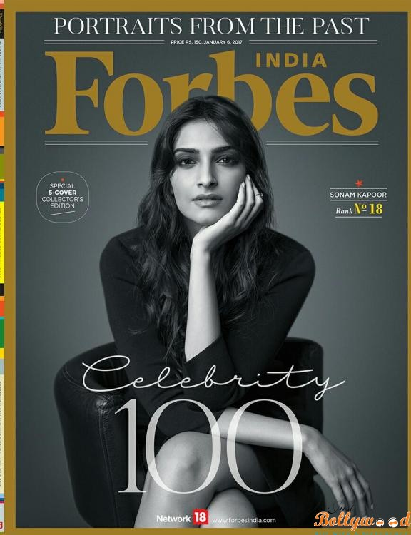 Sonam Kapoor on Forbes cover page