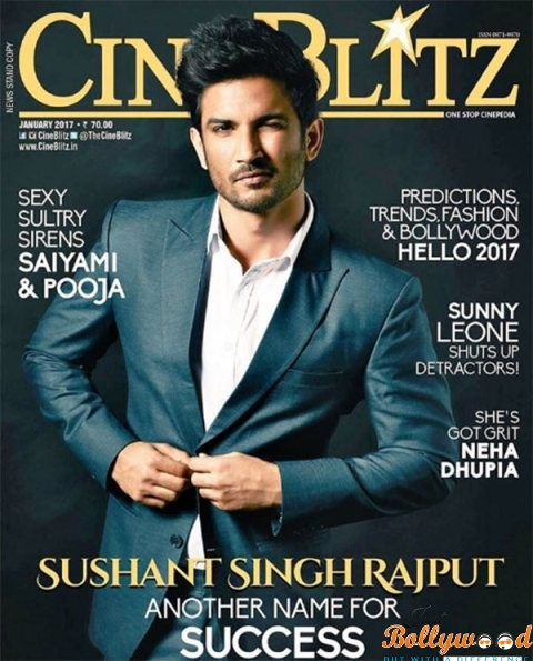 Sushant on Cineblitz coverpage