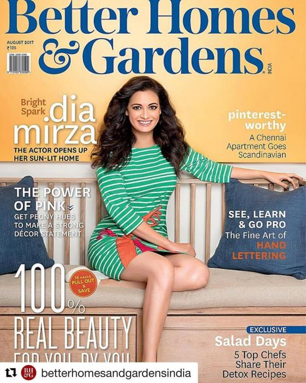 Dia Mirza lights up the cover of a housing magazine