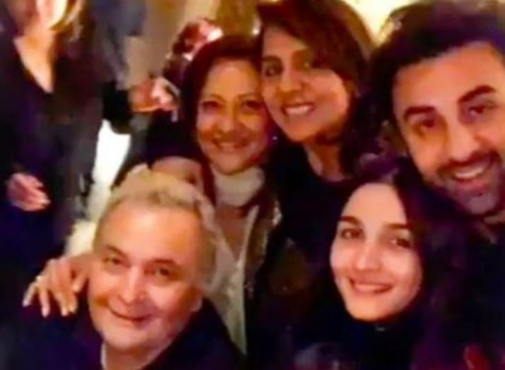 Rishi Kapoor with family in -New York