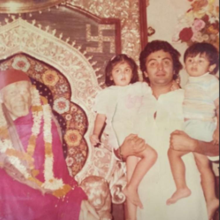 ranbir kapoors childhood pictures shared by sister riddhima