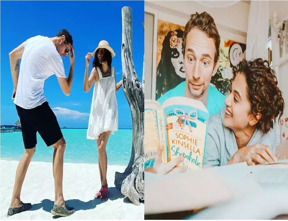 Mathias Boe and Taapsee Pannu in Maldives