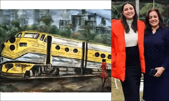 Parineeti Mom paints a train for her