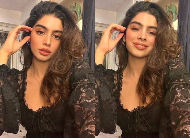 Khushi Kapoor looks stunning in a black lace dress ss